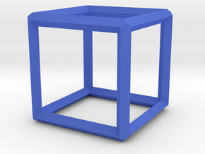 Cube(Leonardo-style model) in Blue Processed Versatile Plastic