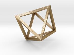 Octahedron(Leonardo-style model) in Polished Gold Steel