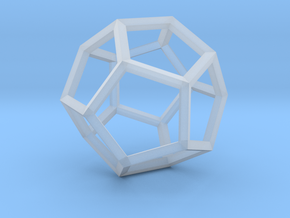 Dodecahedron(Leonardo-style model) in Smooth Fine Detail Plastic