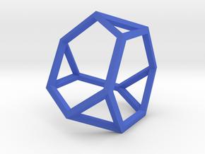 Truncated Tetrahedron(Leonardo-style model) in Blue Processed Versatile Plastic