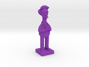 Apu from the Simpsons in Purple Processed Versatile Plastic