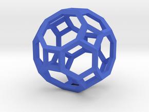 Truncated Cuboctahedron(Leonardo-style model) in Blue Processed Versatile Plastic