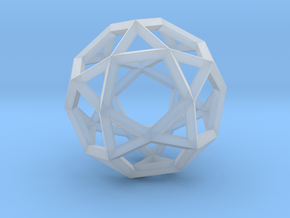 Icosi Dodecahedron(Leonardo-style model) in Smooth Fine Detail Plastic