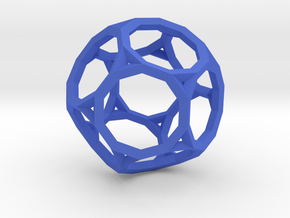 Truncated Dodecahedron(Leonardo-style model) in Blue Processed Versatile Plastic