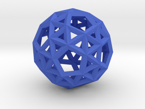 Snub Dodecahedron(Leonardo-style model) in Blue Processed Versatile Plastic