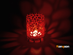Coraline Tealight in Metal or Plastic in Red Processed Versatile Plastic