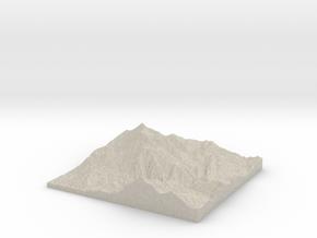 Model of Big Provo Cirque in Natural Sandstone