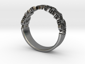 Decorative Ring 1 in Polished Silver
