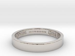 177 tempus edax rerum john titor Ring Size 7 in Rhodium Plated Brass