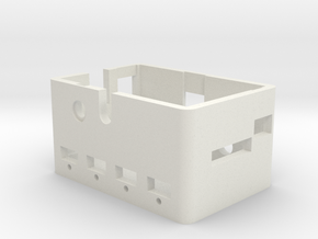 Raspberry Pi and USB hub enclosure in White Natural Versatile Plastic
