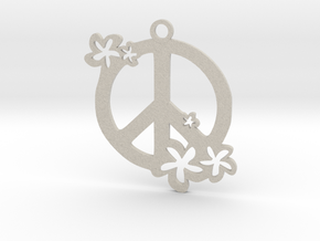 Peace Flowers Pendant in Natural Sandstone