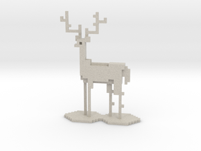 The Pixel Stag in Natural Sandstone