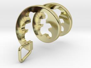 Teddy Bear Spiral Pendant   in 18k Gold Plated Brass