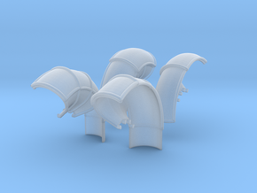 10-Folded LRV - Fenders in Smooth Fine Detail Plastic