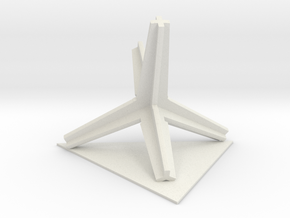 2015052605DaleStemenDesignTrimTripodTriangle1100 in White Strong & Flexible