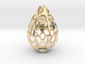 Geo Alpha Dewdrop in 14k Gold Plated