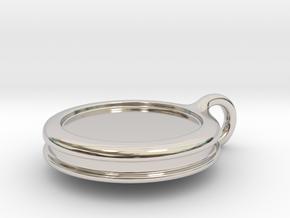 Personalized Pendant in Platinum