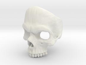 US Size 9 Skull Ring in White Strong & Flexible