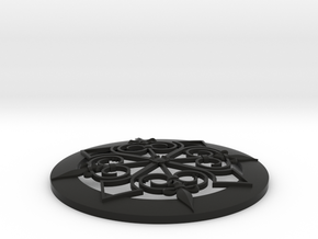 4 Inch Baroque Grill Stl in Black Natural Versatile Plastic