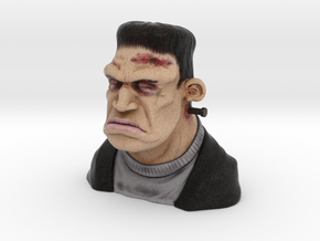 Frankie Figurine Bust Hollow 9cm Height in Full Color Sandstone