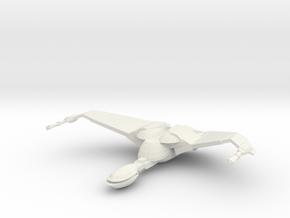 1/2500 BoP Scoutship (wings up - flight) in White Natural Versatile Plastic