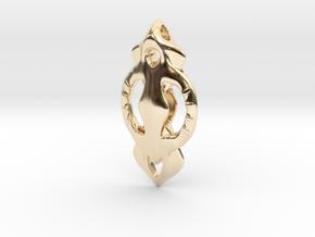 Geo Alpha Mist in 14k Gold Plated Brass