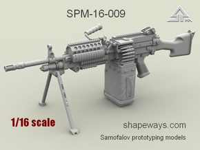 1/16 SPM-16-009 m249 MK48mod0 7,62mm machine gun in Frosted Extreme Detail