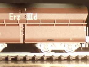 7122 N 4 Drehgestelle Minitrix OOt(z) 50 in Smooth Fine Detail Plastic