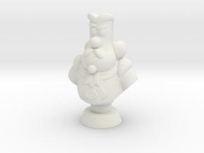 Michiel de Ruyter comic character bust in White Natural Versatile Plastic
