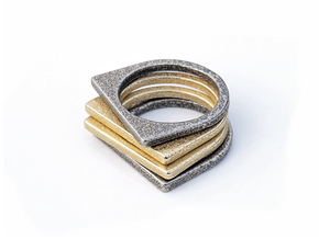Layer Ring(s) (US Size 6.5) in Stainless Steel