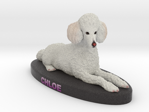 Custom Dog Figurine - Chloe in Full Color Sandstone