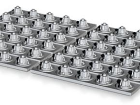 YT1300 DEAGO SET 12 CORRIDOR LIGHTS in Smooth Fine Detail Plastic