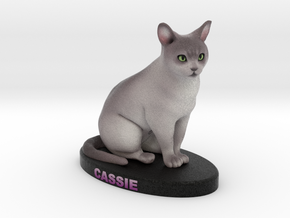 Custome Cat Figurine - Cassie in Full Color Sandstone