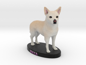 Custom Dog Figurine - Maya in Full Color Sandstone