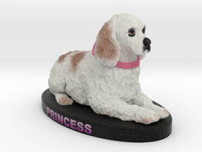 Custom Dog Figurine - Princess in Full Color Sandstone