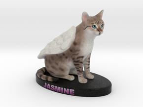 Custom Cat Figurine - Jasmine in Full Color Sandstone