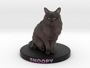 Custom Cat Figurine - Snoopy in Full Color Sandstone