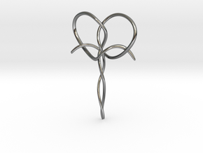 Interwoven Faith in Fine Detail Polished Silver
