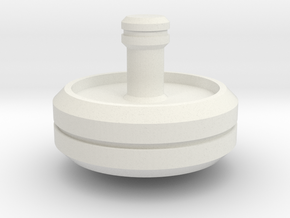 Spinning Top 2 in White Natural Versatile Plastic
