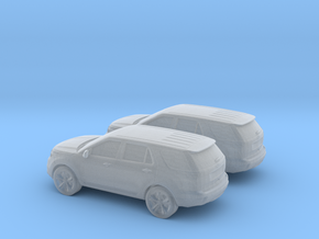 1/160 2X 2011 Ford Explorer in Smooth Fine Detail Plastic