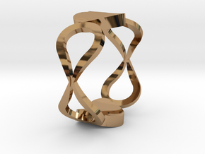 InfinityLove ring Size 50 in Polished Brass