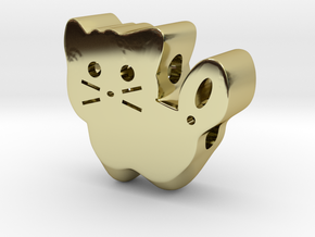 Kitty in 18k Gold Plated Brass