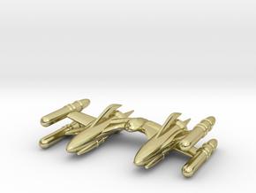 "RetroRocket ""Scorpius"" in 18k Gold Plated Brass"