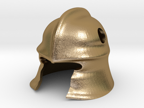 Knight Helm in Polished Gold Steel