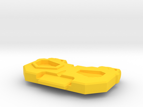 The Inquisitor's Chest Plate in Yellow Processed Versatile Plastic