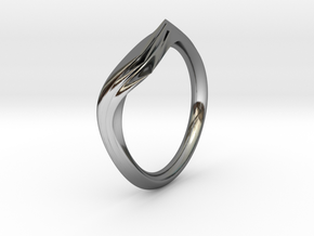 Pride Ring, Side 1 in Fine Detail Polished Silver