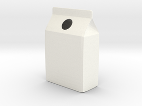 Milk Carton Vase in White Processed Versatile Plastic