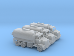 3 Water tank Trucks Z Scale in Smooth Fine Detail Plastic