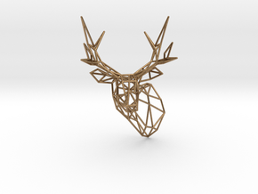 Small Stag Head 75mm Facing Left 1:12 Scale in Natural Brass