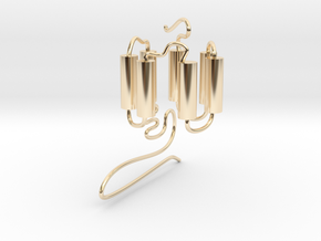GPCR(3D) in 14k Gold Plated Brass